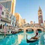 Vista della striscia a Las Vegas Immagine Stock