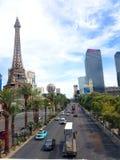 Vista della striscia, Las Vegas, immagini stock