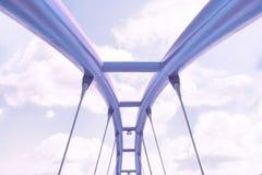 Vista della struttura superiore del ponte porpora contro il cielo blu illustrazione di stock