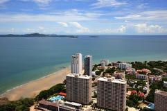 Vista della Tailandia della baia di Pattaya e di Jomtien immagini stock