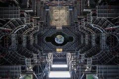 Vista della terra da un veicolo spaziale Elementi di questa immagine ammobiliati dalla NASA fotografia stock