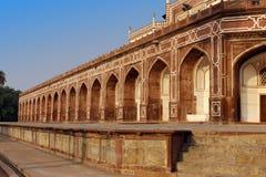 Vista della tomba di Humayun a Delhi, India immagine stock libera da diritti