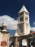 Vista della torre della chiesa del redentore da Muristan immagine stock libera da diritti