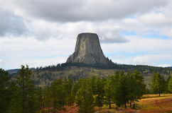 Vista della torre del diavolo Fotografie Stock Libere da Diritti