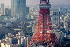 Vista della torre di Tokyo dalla collina Tokyo, Giappone di Roppongi Fotografie Stock Libere da Diritti