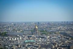 Vista della torre Eiffel di Parigi Fotografia Stock Libera da Diritti