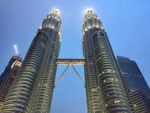 Vista della torre gemella Immagine Stock Libera da Diritti