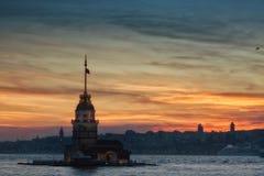 Vista della torre nubile fotografie stock