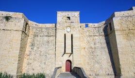 Vista della torretta della st Thomas, Marsaskala Fotografie Stock