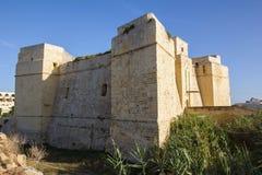 Vista della torretta della st Thomas, Marsaskala Immagini Stock