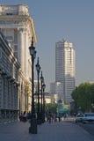 Vista della torretta di Madrid Fotografia Stock