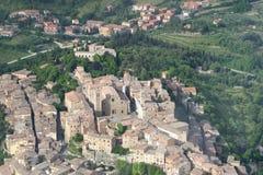 Vista della Toscana dal cielo Fotografie Stock Libere da Diritti
