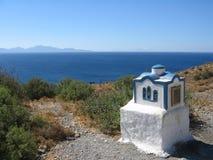 Vista della Turchia dall'isola di Kos Fotografie Stock