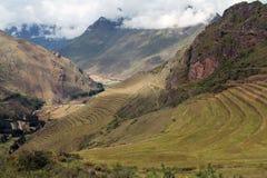 Vista della valle da Pisac Fotografia Stock