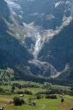 Vista della valle del eiger Immagini Stock