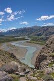 Vista della valle del fiume Fotografia Stock