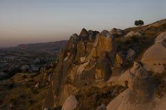 Vista della valle del sud di Cappadocia immagine stock libera da diritti