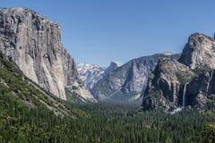 Vista della valle del Yosemite Immagini Stock Libere da Diritti