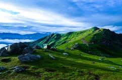 Vista della valle di Chanshal fotografie stock libere da diritti