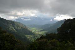 Vista della valle di Chitlang, Nepal Fotografie Stock