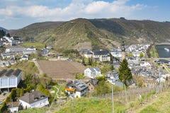 Vista della valle di Cochem, Germania fotografie stock