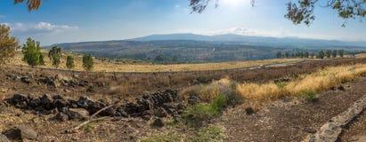 Vista della valle di hula e della tomaia Galilea Fotografia Stock Libera da Diritti