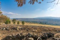 Vista della valle di hula e della tomaia Galilea Fotografia Stock