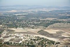 Vista della valle di Jezreel l'israele Fotografie Stock