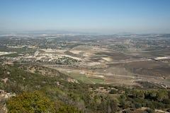 Vista della valle di Jezreel l'israele Fotografie Stock Libere da Diritti