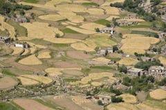 Vista della valle di Nubra, Ladakh Fotografie Stock Libere da Diritti