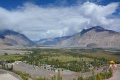 Vista della valle di Nubra, Ladakh Fotografia Stock