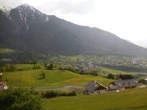 Vista della valle di Otztal in Austria Fotografia Stock Libera da Diritti