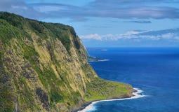 Vista della valle di Waipio in grande isola Immagini Stock
