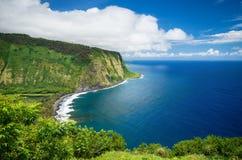 Vista della valle di Waipio sulla grande isola Hawai Immagini Stock Libere da Diritti