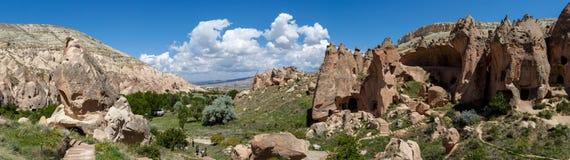 Vista della valle di Zelve Fotografie Stock Libere da Diritti