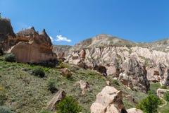 Vista della valle di Zelve Immagini Stock Libere da Diritti