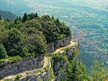 Vista della valle della montagna di panorama del paesaggio Fotografie Stock