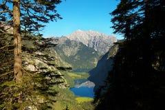 Vista della valle profonda Fotografia Stock