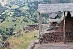 Vista della valle sacra dall'entrata di Pisac Fotografia Stock