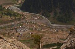 Vista della valle in Sonamarg-2 Immagini Stock Libere da Diritti