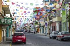 Vista della via Alto Lucero, Messico immagini stock libere da diritti