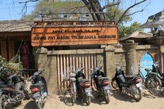 Vista della via in Bagan Myanmar immagine stock