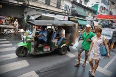 Vista della via a Bangkok fotografia stock libera da diritti