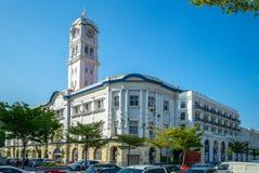 Vista della via della città di George, Penang, Malesia immagine stock libera da diritti