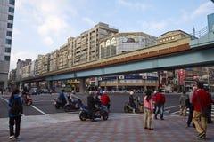 Vista della via, città di Taipei Immagine Stock