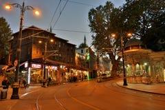 Vista della via a Costantinopoli, Turchia Immagini Stock