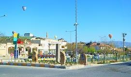 Vista della via dalla città Turchia di Goreme Fotografia Stock Libera da Diritti
