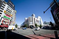 Vista della via del Giappone Shinjuku Fotografia Stock