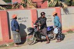 Vista della via del lago Inle nel Myanmar Fotografia Stock Libera da Diritti