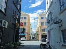 Vista della via del Malacca Fotografie Stock Libere da Diritti